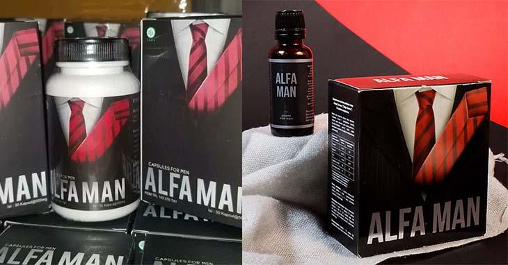 Hình ảnh thuốc trị liệt dương Alfa Man