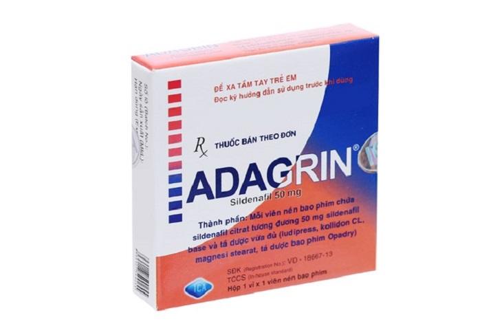 Adagrin là loại thuốc điều trị rối loạn cương dương rất nổi tiếng