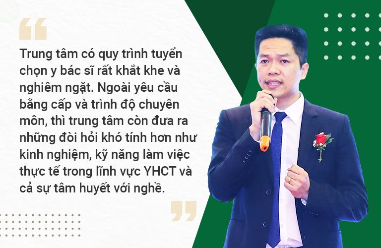 TS Ngô Quang Hùng chia sẻ thêm về quy trình tuyển chọn bác sĩ Trung tâm Thuốc dân tộc quận Phú Nhuận
