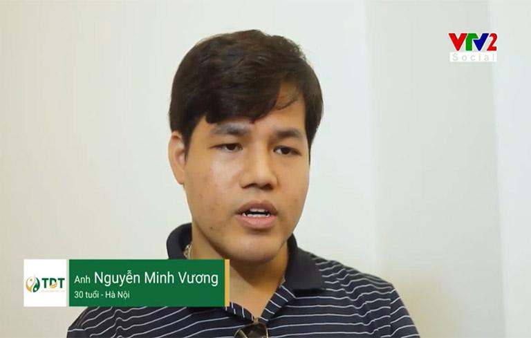 Anh Vương chia sẻ trong phóng sự VTV2