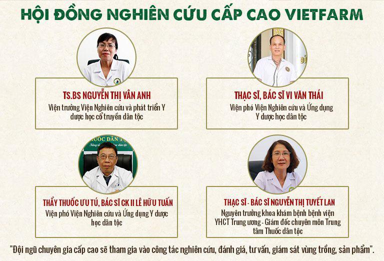 Các sản phẩm của đông trùng hạ thảo Vietfarm được nghiên cứu bởi hội đồng nghiên cứu cấp cao