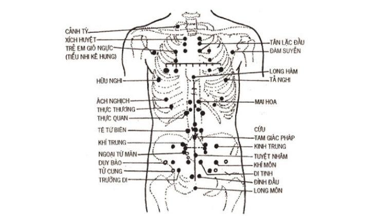 Các thông tin chi tiết về huyệt Định Suyễn