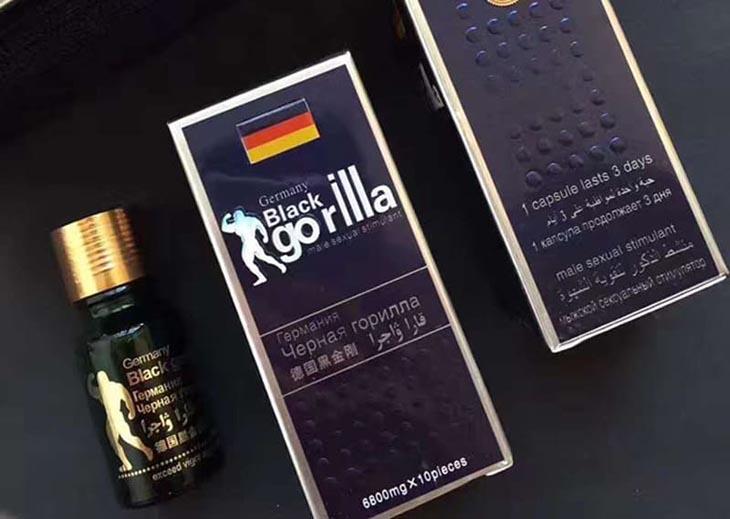 Bao bì thuốc cường dương của Đức Black Gorilla