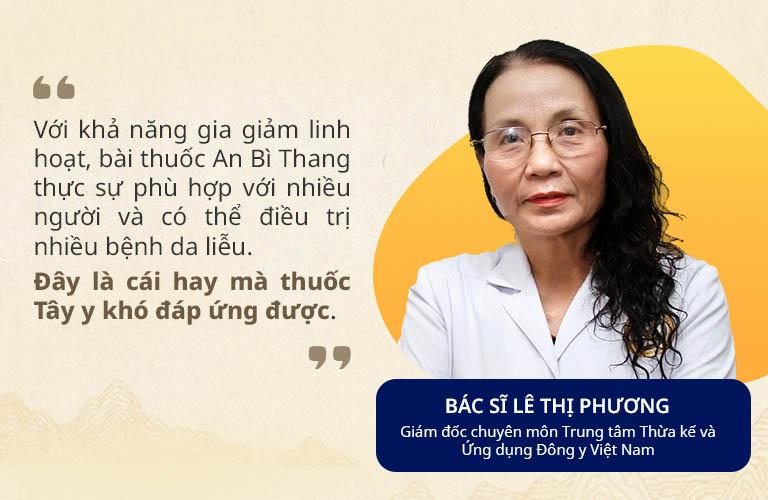 Thầy thuốc Ưu tú Lê Thị Phương đánh giá cao bài thuốc An Bì Thang