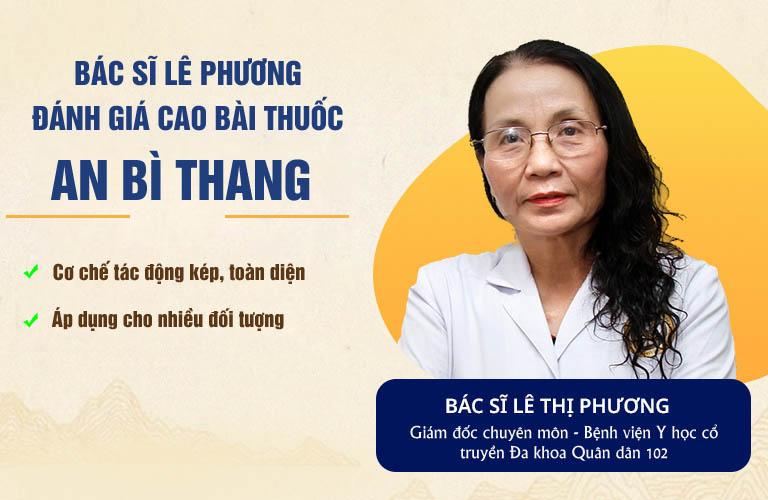 Bác sĩ Lê Phương đánh giá cao bài thuốc An Bì Thang ở nhiều khía cạnh