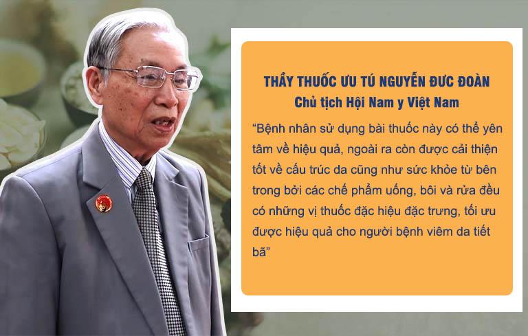 Thầy thuốc ưu tú Nguyễn Đức Đoàn cho biết bất cứ ai cũng có thể yên tâm sử dụng bài thuốc An Bì Thang chữa viêm da dầu