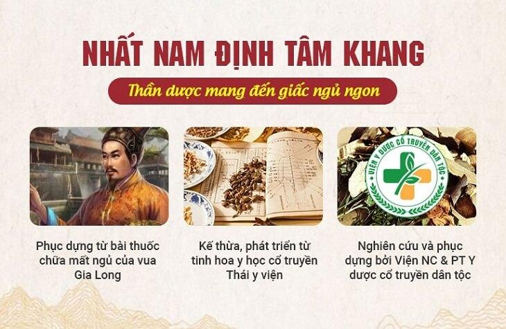 Nhất Nam Định Tâm Khang được phục dụng và kế thừa những tinh hoa y học cổ truyền