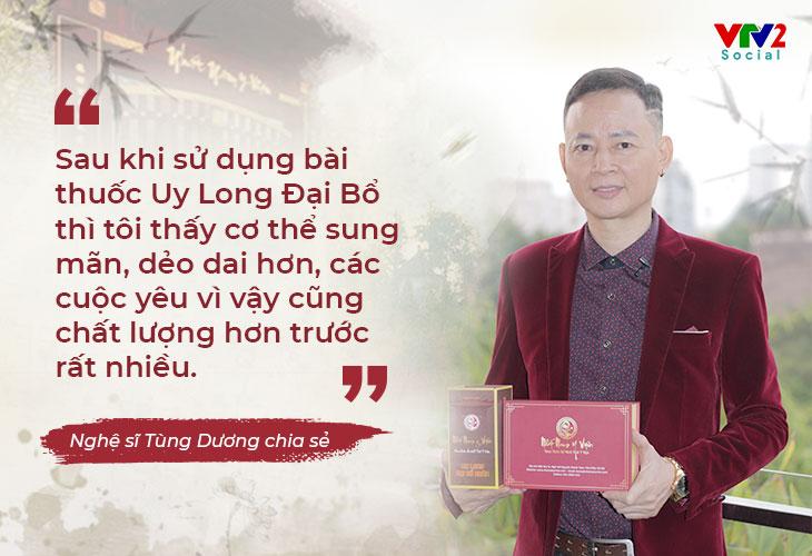 Nghệ sĩ Tùng Dương xuất hiện trong chương trình VTV2 Chất lượng cuộc sống
