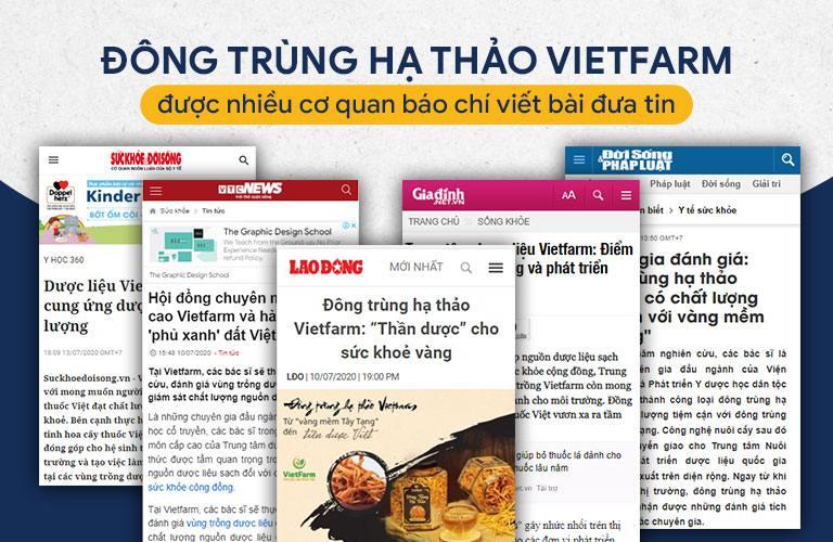 Một số trang báo đưa tin về Đông trùng hạ thảo Vietfarm