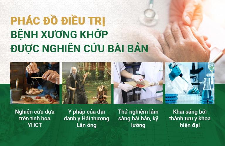 Bài thuốc Quốc dược Phục cốt khang được nghiên cứu bài bản dưới sự kết hợp của YHCT và y khoa hiện đại