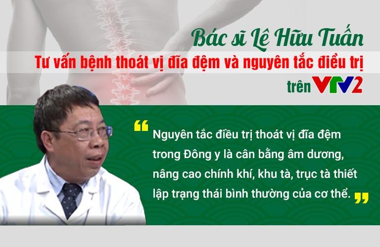 Bác sĩ Lê Hữu Tuấn tư vấn chữa thoát vị đĩa đệm trên VTV2