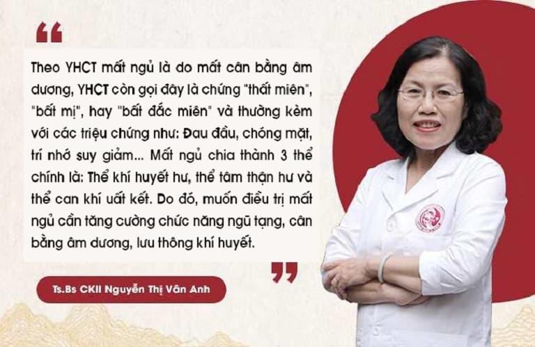 TS. BS Nguyễn Thị Vân Anh nói về các thể bệnh mất ngủ