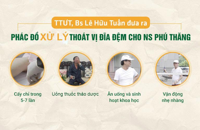 Phác đồ thoát vị đĩa đệm nghệ sĩ Phú Thăng được ứng dụng