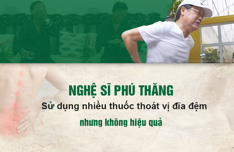 Nghệ sĩ Phú Thăng đã áp dụng nhiều cách nhưng không hiệu quả