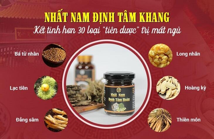 Thành phần bài thuốc Nhất Nam Định Tâm Khang