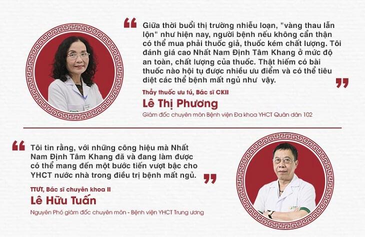 Nhiều chuyên gia đánh giá cao bài thuốc Nhất Nam Định Tâm Khang