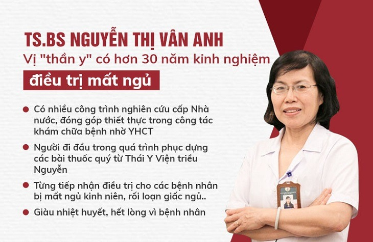 Bác sĩ Nguyễn Thị Vân Anh đã có nhiều năm kinh nghiệm trong điều trị bệnh mất ngủ