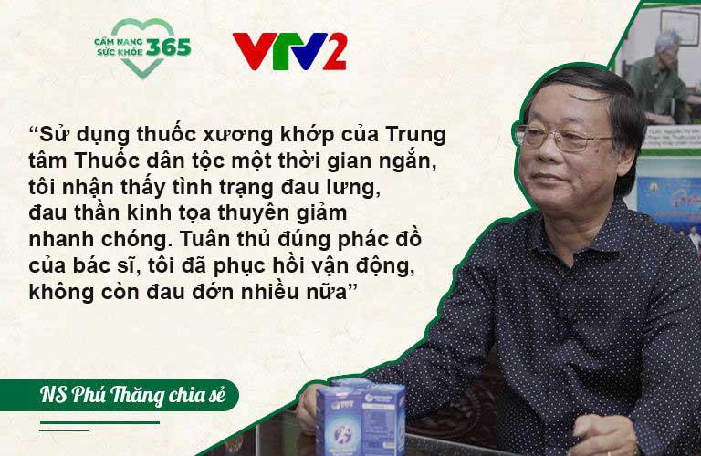 Nghệ sĩ Phú Thăng chia sẻ hiệu quả khắc phục thoát vị đĩa đệm