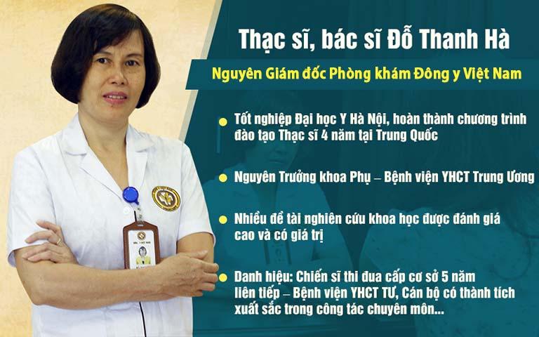 Tiểu sử làm việc của bác sĩ Đỗ Thanh Hà