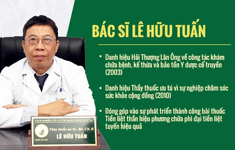 Bác sĩ Lê Hữu Tuấn - Chuyên gia nam khoa nổi tiếng hàng đầu hiện nay