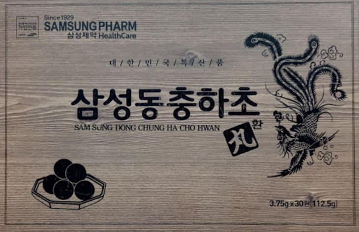 Bao bì sản phẩm đông trùng hạ thảo hộp gỗ 60 gói Bio Samsung