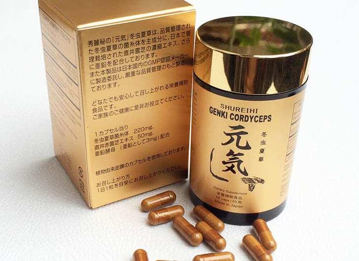 Genki - tên một chế phẩm đông trùng hạ thảo tiếng Nhật có nghĩa là sức khỏe