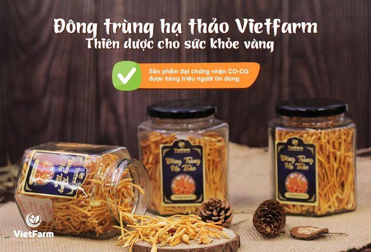 Đông trùng hạ thảo Vietfarm được thị trường vô cùng ưa chuộng