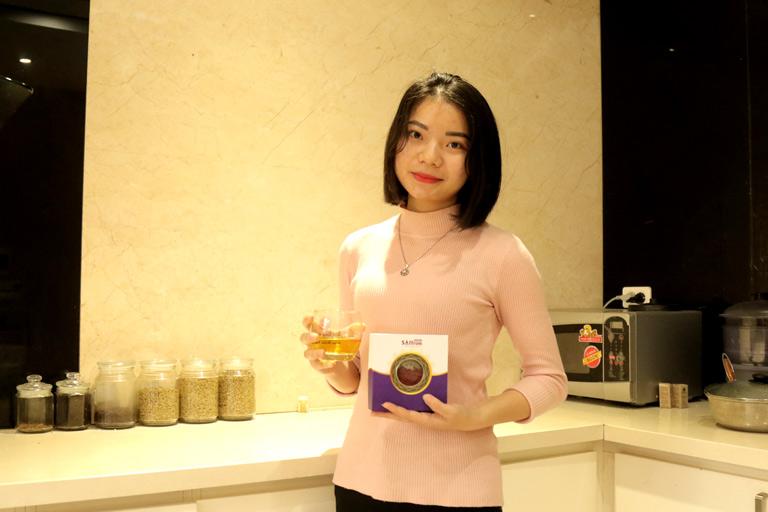 Chị Thanh Ngân chia sẻ bí quyết ngủ ngon, đẹp da từ trà Saffron Vietfarm