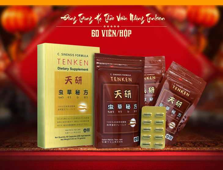 Đông trùng hạ thảo Tenken đang được bán tại hệ thống nhà thuốc Việt