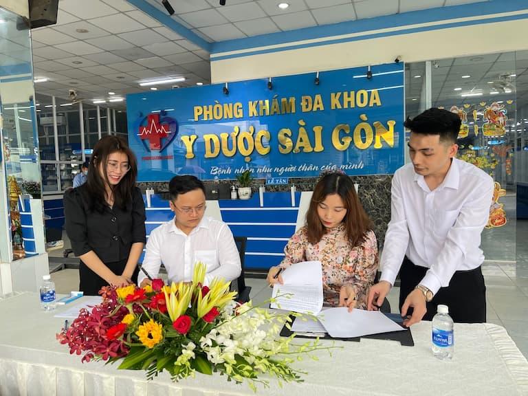 Ký kết hợp tác giữa Quân Dân 102 và Phòng khám Đa khoa Y dược Sài Gòn