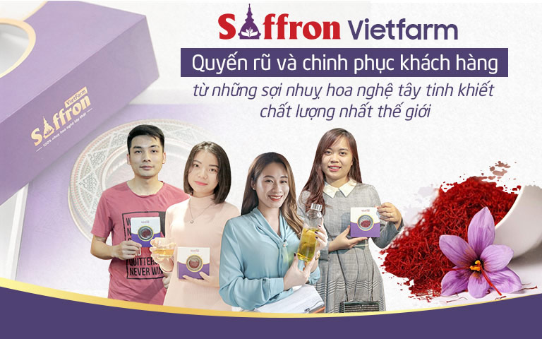 Saffron Vietfarm là thương hiệu phân phối nhuỵ hoa nghệ tây uy tín được đông đảo khách hàng lựa chọn
