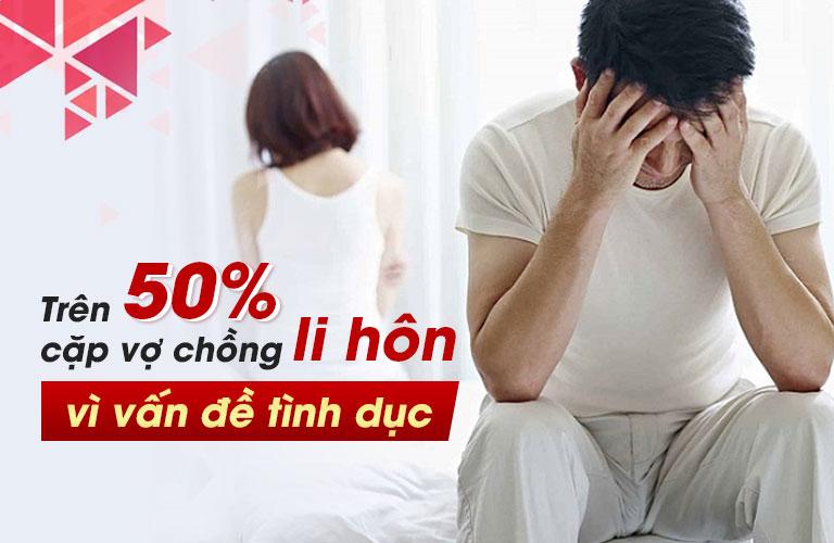 Tỉ lệ các cặp vợ chồng li hôn vì vấn đề tình dục ngày càng gia tăng