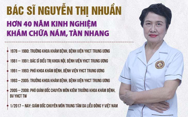 Bác sĩ Nguyễn Thị Nhuần là một trong những chuyên gia Da liễu hàng đầu