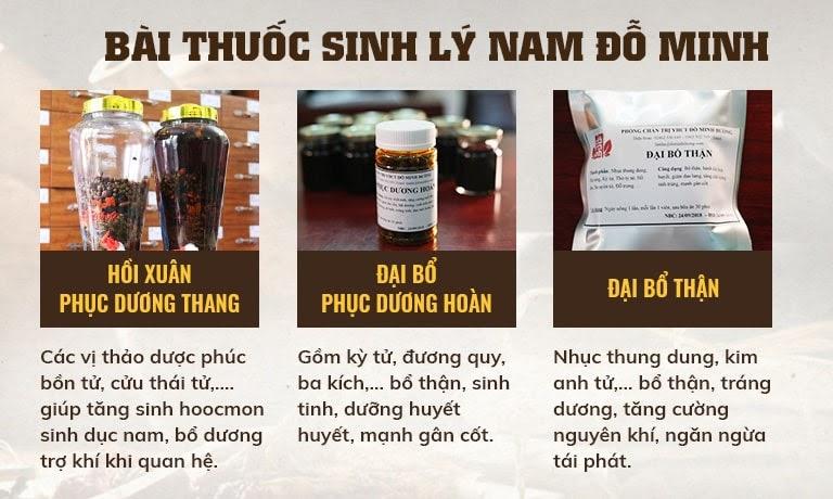 Bộ 3 chế phẩm trong Sinh lý nam Đỗ Minh đem lại hiệu quả chữa yếu sinh lý toàn diện