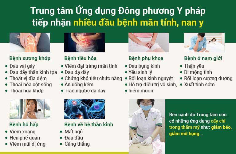 Trung tâm kết hợp điện châm và nhiều phương pháp điều trị bệnh lý mãn tính và nan y