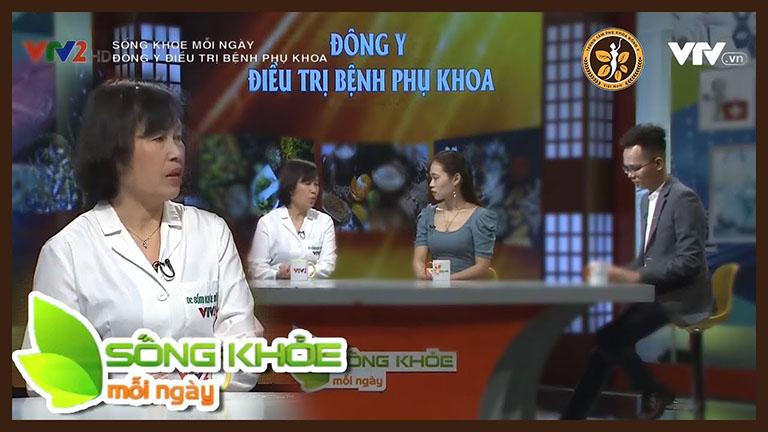 Bác sĩ Đỗ Thanh Hà trong chương trình Sống khoẻ mỗi ngày phát sóng trên VTV2