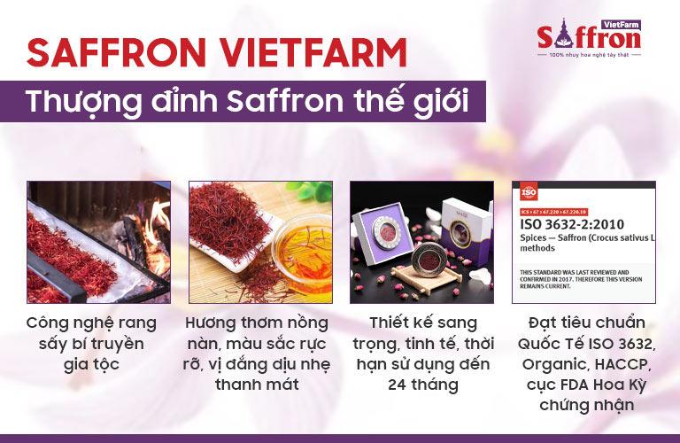 Những ưu điểm vượt trội của Saffron Vietfarm