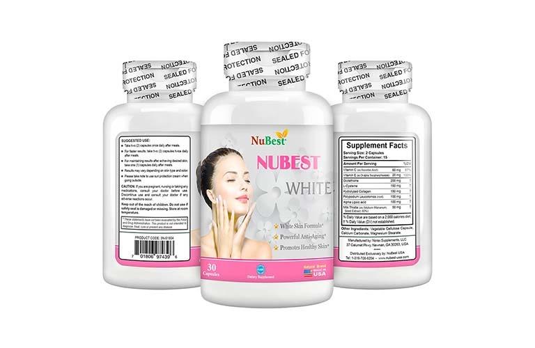 Thuốc trị tàn nhang dạng viên uống Nubest White