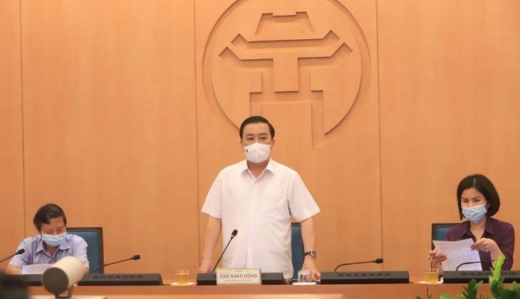 Phó Chủ tịch UBND TP. Hà Nội Chử Xuân Dũng chủ trì cuộc họp