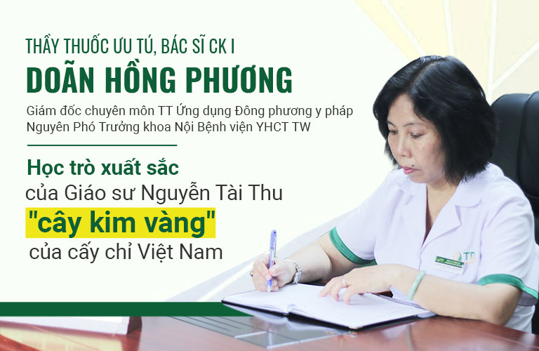 Bác sĩ Phương với hơn 40 năm kinh nghiệm cấy chỉ
