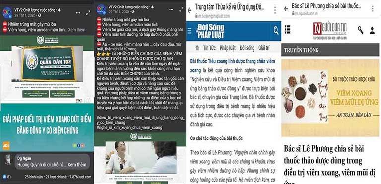 Báo chí đưa tin về bài thuốc Tiêu Xoang Linh Dược Thang