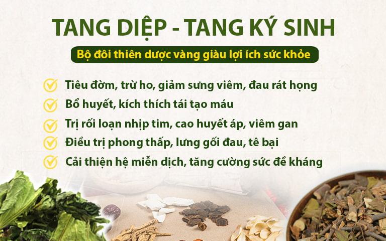 Tang diệp và tang ký sinh là hai thảo dược mang lại nhiều lợi ích sức khỏe