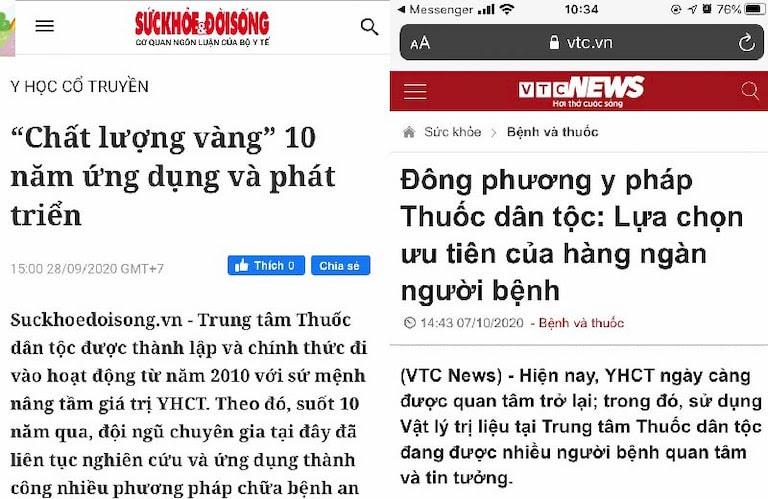 Báo chí đưa tin về Đông phương Y pháp