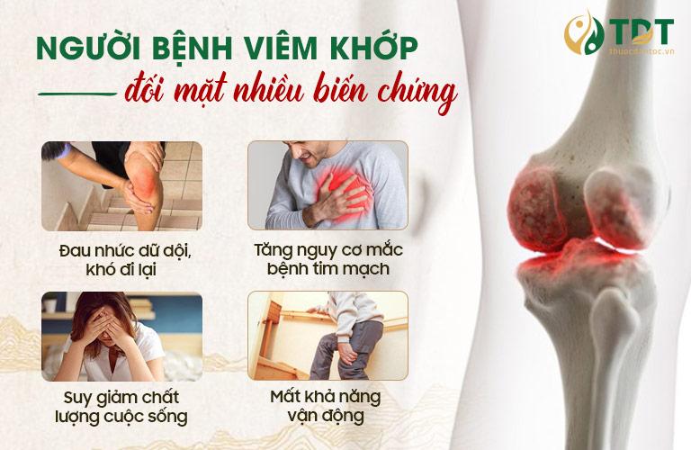 Biến chứng nguy hiểm của viêm đau khớp gối