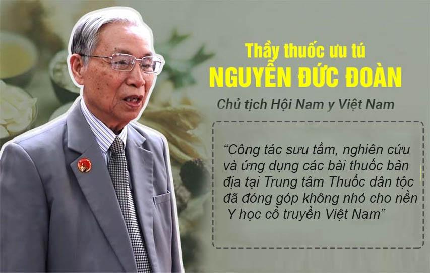 Thầy thuốc ưu tú Nguyễn Đức Đoàn đánh giá cao về công tác sưu tầm, nghiên cứu, ứng dụng thuốc bản địa của Trung tâm Thuốc dân tộc