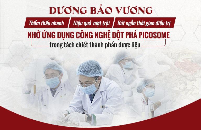 Ứng dụng công nghệ Picosome trong chiết xuất thành phần dược liệu bài thuốc Dương Bảo Vương