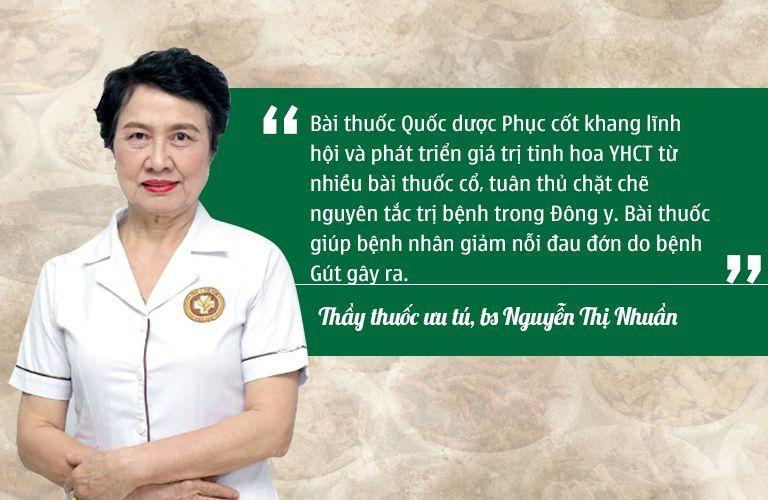 Bác sĩ Nhuần đánh giá cao hiệu quả của phác đồ điều trị tại Thuốc dân tộc