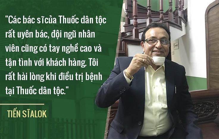 Tiến sĩ Alok đánh giá cao chuyên môn của bác sĩ Việt Nam