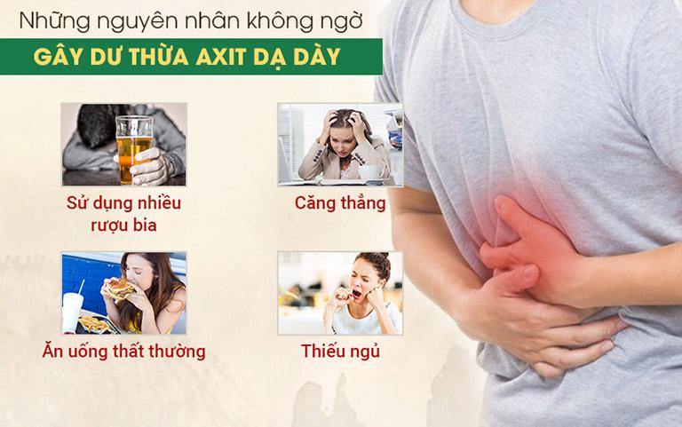 Nguyên nhân gây ra axit dạ dày khiến bạn ngã ngửa