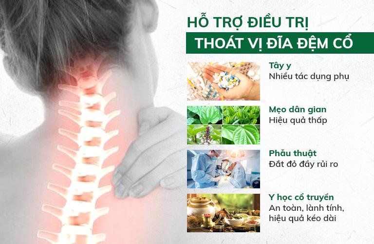 Những phương pháp hỗ trợ điều trị thoát vị đĩa đệm cổ